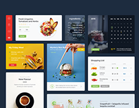 Food & Drink UI Kit (PSD + Sketch)