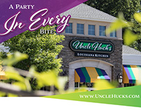 Uncle Huck's Louisiana Kitchen Branding and Web Design.