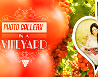 Photogallery in a vineyard