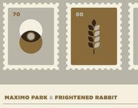 Maximo Park & Frightened Rabbit Screenprint 2016