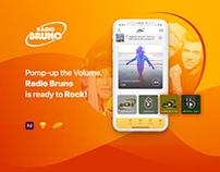 Radio Bruno - UX, UI & Mobile DEV By Mumble