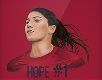 Ilustración digital - Hope Solo