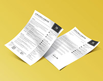 Free Simple Resume Template with Matching Cover Letter