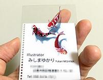 3D Artwork for Business Cards / 使用三维幻觉艺术的名片设计