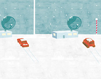 North Pole Station Illustration