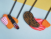 Abstract jewelry - paper necklaces