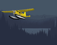 Seattle Seaplane Illustration