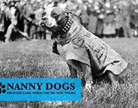 Logo, Branding, Packaging & Apparel Design : Nanny Dogs