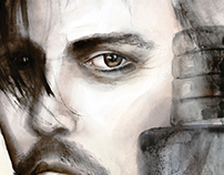 Johnny Depp - Dior Sauvage Illustration
