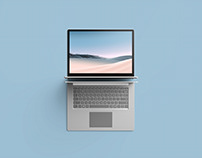 Top View Surface Laptop 3 Mockup