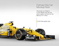 Formula One Car Mockup