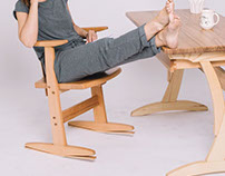 A chair for active sitting