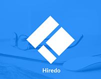 Hiredo - UX Strategy, Wireframe for Webapp