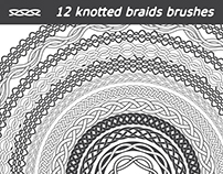 12 knotted braids brushes for Illustrator