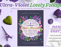 Ultra-Violet Lovely Foliage Invite II