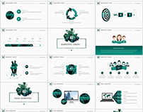 Best business report annual Green white Design PowerPoi