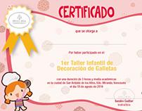 Certificate: Dulce Idea