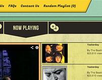 Digital | Geezer Tunes – Website Concept