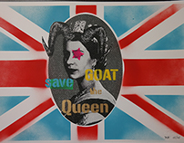 GOAT SAVE THE QUEEN - mixed media 2015