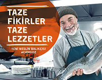 CAMGÖZ Fish Restaurant Outdoor and Print AD