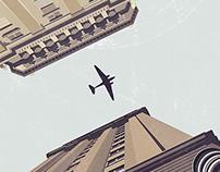 Plane over Stockholm