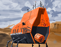 Planetary Mining Vehicle