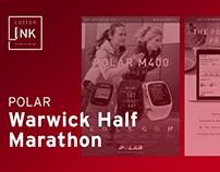 Polar Warwick Half Marathon Flyer | 2016