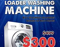 Pamphlet design for washing machine