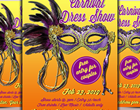 Carnival Dress Show Flyer Temlate