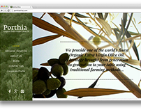 Porthia | organic olive oil website
