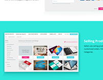 eCommerce Platform Design, Seller, Buyers, Vendors