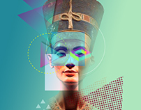"Egypt The Future ""New Pharaohs"" Poster ""Nefertiti"""