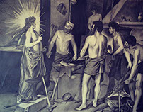Apollo in the Forge of Vulcan Reproduction