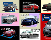 D7 | BMW 100 Years Illustrations