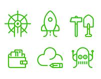 Cloud Services ( Icon set )