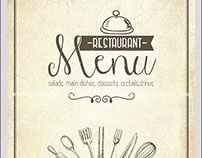 Vintage Menu Free Flyer PSD Template