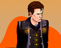 Digital Illustration - Rhys/Tales from the Borderlands