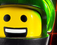 High Detail Lego M:Tron Minifig Rendering