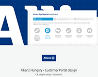Allianz Hungary - Customer Portal design