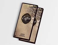 cafe shop menu
