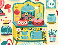 Hobby Kitchen Illustration Pattern