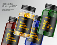 Plastic Pills Bottle Mockup PSD