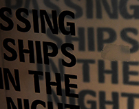 Passing ships :: experimental typography