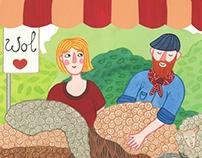 Drentse Uitmaand campaign 2015 illustrations