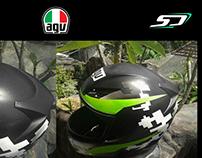AGV Helmets Repaint - Simon Designs