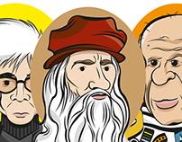 Warhol, Da Vinci y Picasso
