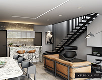 CG Visualisation for a Stunning Open Concept Kitchen