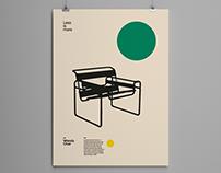 Wassily Chair, Bauhaus Poster Design