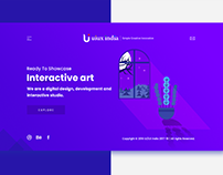 UI UX India Landing page design