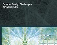 October Design Challenge - 2016 Calendar